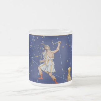 Vintage Bootes Star Chart Frosted Glass Mug