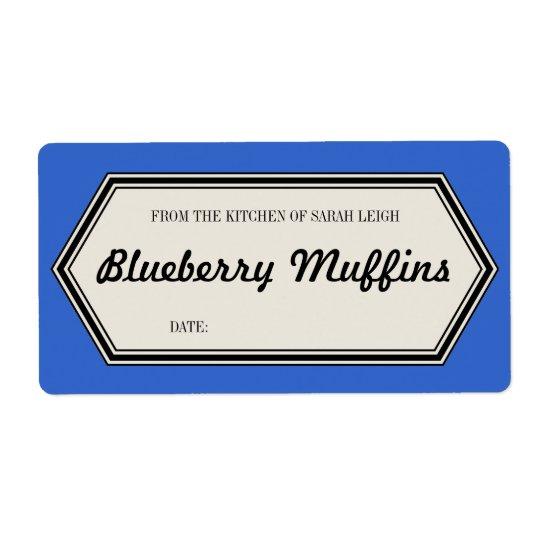 Vintage Border Baked Goods Label Template Shipping Label
