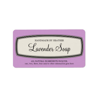 Vintage Border Handmade Soap Label Template
