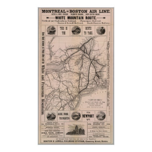 f28ba7f5964b9 Old New England Map Posters & Prints | Zazzle UK