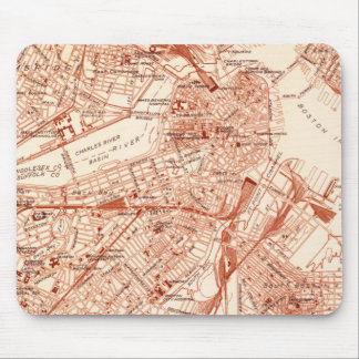 Vintage Boston Map Mouse Mat