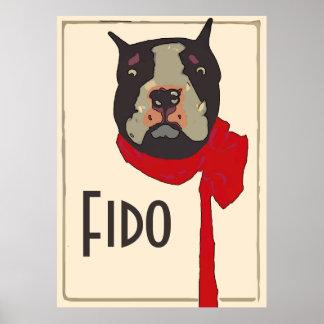 Vintage Boston Terrier, edit name Poster