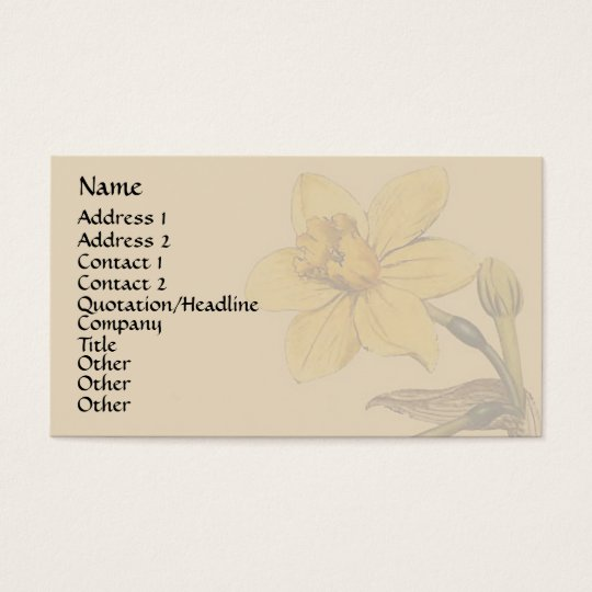 Vintage Botanical Art Business Card