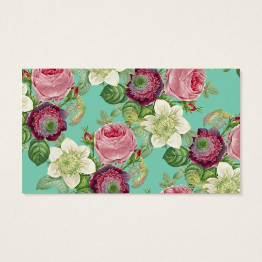Vintage Botanical Blossom Country Chic Business Card