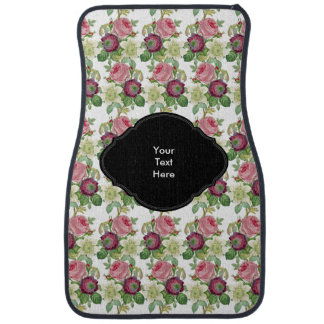 Vintage Botanical Blossom Country Chic Floor Mat