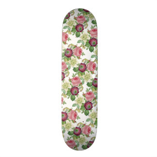 Vintage Botanical Blossom Country Chic Skate Board