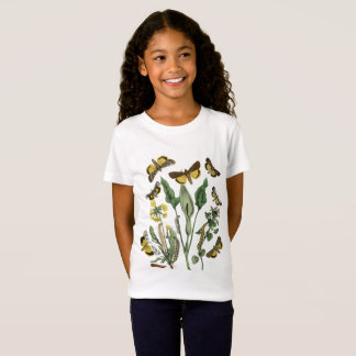 Vintage Botanical Butterfly and Moths Nature Tee