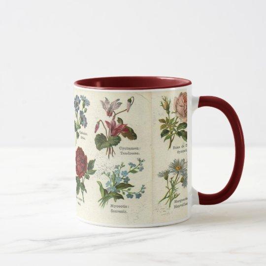 Vintage Botanical Card Mug