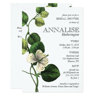 Vintage Botanical Chic Bridal Shower Invitations