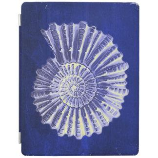 vintage botanical Coastal Blue White seashell iPad Cover
