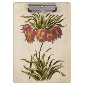Vintage Botanical Floral Crown Imperial Clipboards