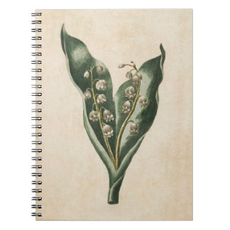 Vintage Botanical Floral Lilly of the Valley Notebooks