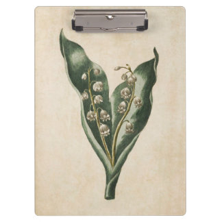 Vintage Botanical Floral Lily of the Valley Clipboards
