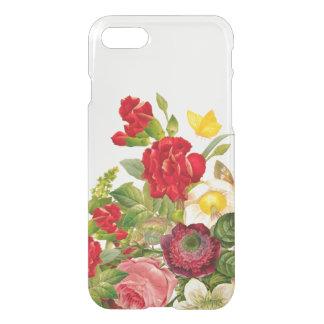 Vintage Botanical Floral Rose Clear iPhone 7 Case