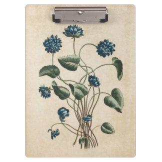Vintage Botanical Floral Violets Illustration Clipboards