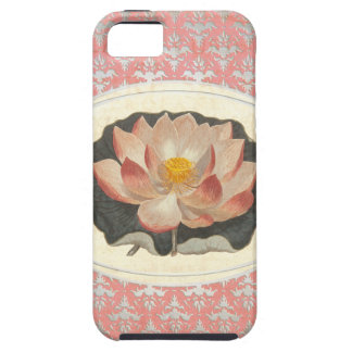 Vintage Botanical Lotus Blossom Elegant Yoga iPhone 5 Covers