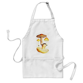 Vintage Botanical Mushrooms Standard Apron
