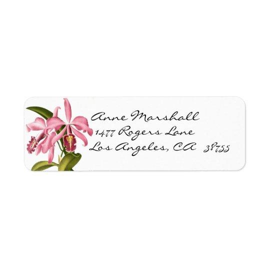 Vintage Botanical Orchids Avery Label Return Address Label