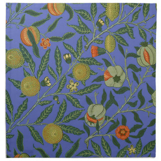 Vintage Botanical Pomegranate Pattern Wallpaper Napkin