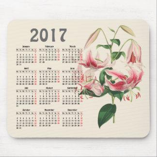 vintage botanical print 2017 calendar mouse mat