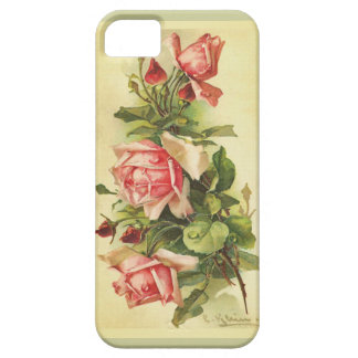 Vintage Botanical Roses Painting Barely There iPhone 5 Case