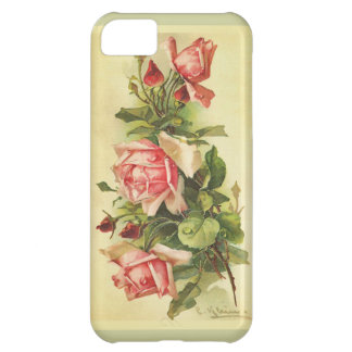 Vintage Botanical Roses Painting Case For iPhone 5C