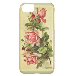 Vintage Botanical Roses Painting iPhone 5C Case