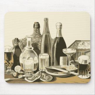 Vintage Bottles of Alcohol Mousepad