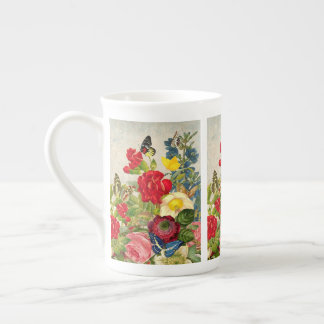 Vintage Bouquet Bone China Mug