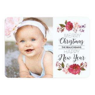 Vintage Bouquet Christmas Holiday 13 Cm X 18 Cm Invitation Card