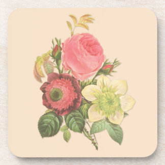 Vintage Bouquet Coaster Set