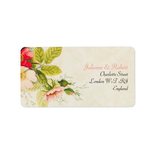 Vintage Bouquet | Floral Wedding Address Label