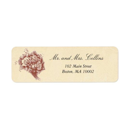 Vintage Bouquet Labels