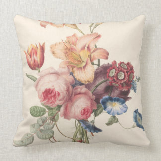 Vintage Bouquet of Flowers Cushion