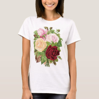 Vintage Bouquet of Roses Woman's Tee Shirt