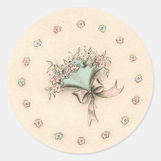 Vintage Bouquet Round Sticker