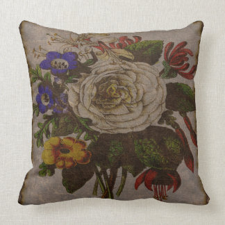 "Vintage Bouquet Throw Pillow 20"" x 20"""