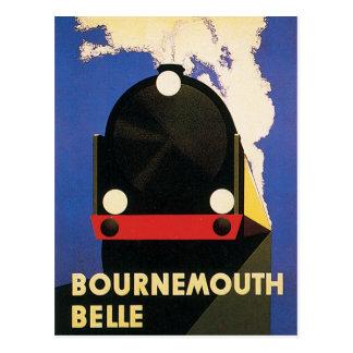 Vintage Bournemouth Belle Train Poster Postcard