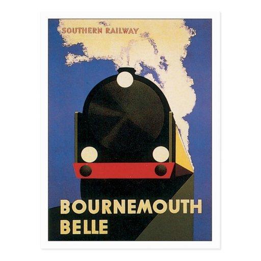 Vintage Bournemouth Southern Railway Postcard