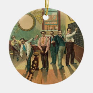 Vintage Bowling Alley #191 May 2 1894 Christmas Ornament