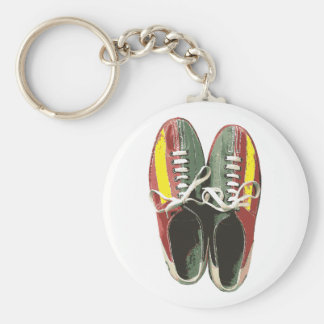 Vintage Bowling Shoes Retro Bowling Shoe Key Ring
