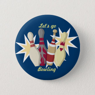 Vintage Bowling Themed 6 Cm Round Badge