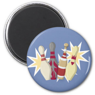 Vintage Bowling Themed Magnet