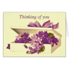 Vintage Box of Violets Greeting Card