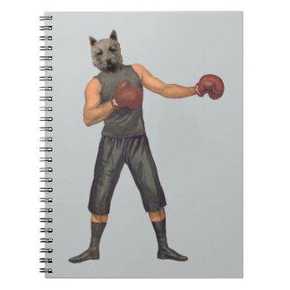 Vintage Boxer Westie Spiral Notebook