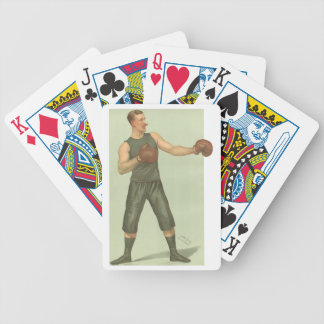 Vintage Boxer with Long Green Trunks Bicycle Playing Cards