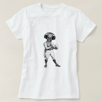 Vintage Boxer with Skull and Headphones T-shirts