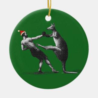 Vintage boxing christmas ornament decoration