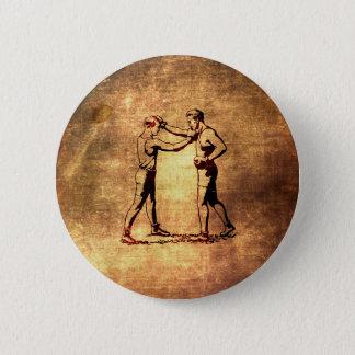 Vintage boxing men 6 cm round badge