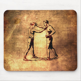 Vintage boxing men mouse pad